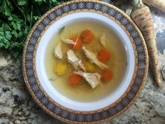 The most elegant and complex tasting chicken soup you& ever eat. Rosół (Polish Chicken Soup) is a classic, just the thing to serve for Sunday dinner! Beef Recipes, Soup Recipes, Chicken Recipes, Cooking Recipes, Polish Soup, Polish Chicken, Whole Wheat Pizza, Recipe Scrapbook, Chowder Recipes
