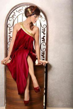 Image result for greek goddess red dress