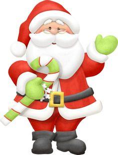 Santa Claus With Xmas Presents - Christmas Clip Art Images Christmas Graphics, Christmas Clipart, Christmas Printables, Christmas Pictures, Father Christmas, Christmas Art, Christmas Themes, Christmas Ornaments, Funny Christmas