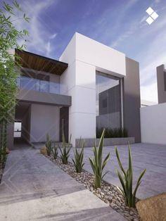 35 Inspiring Minimalist Frontyard Design Ideas To Try Asap Modern House Facades, Modern House Design, Unique Architecture, Interior Architecture, Landscape Design, Garden Design, Design Exterior, Modern Mansion, Modern Landscaping