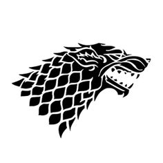 Game of Thrones - House Stark Sigil Stencil. There are also stencils for the other houses. Brady and Tim glasses. House Stark Sigil, Dinner Is Coming, Game Of Thrones Party, Game Of Thrones Sigils, Game Of Thrones Tattoo, Game Of Thrones Shirts, Game Of Trones, Dire Wolf, Free Stencils