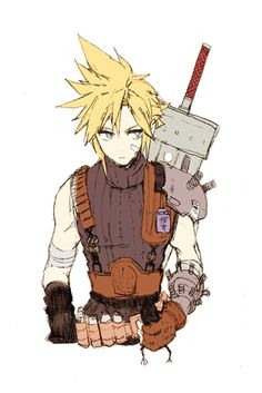 I really like how Cloud looks in this picture. I love the emo and the adorkable as much as anyone, but there isn't enough fanart of fakepersonality! Final Fantasy Cloud, Final Fantasy Artwork, Final Fantasy Characters, Final Fantasy Vii Remake, Fantasy Series, Anime Characters, Cloud And Tifa, Cloud Strife, Final Fantasy Collection