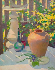 Henry Hensche -     Henry Hensche, 'Sunlight and Shadow' - oil on board - c. 1940's - Collection of the Town of Provincetown