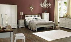 Bentley Designs Hampstead Soft Grey and Walnut Bedroom Set