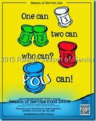 TONS of Food Drive Flier Poster Ideas MUST SEE - © 2015 Schnegel-stuff.blogspot.com (fooddrive, flyer, foodbank, Day of Service)