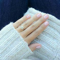 #nails #baby pink