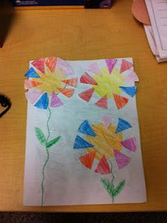 Fraction Flowers - art and math combined!