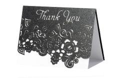 www.intricatecreations.co.uk Indulgence Laser-Cut Swarovski Crystal Thank You Card