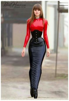 ☺ Latex rubber hobble skirt