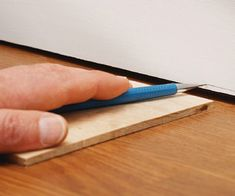 You Want to Scribe the Baseboard to the Floor?