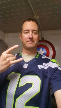 Karl Gatke, Sergeant First Class, Oregon National Guard Afghanistan. Seattyle Seahawks fan.