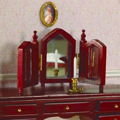 Dressing Table Mirror , dollhouse style, 1:12 scale