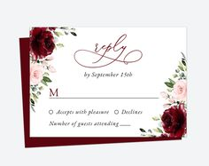 Invite friends and family in style and set the tone for your special day with this charming wedding invitation suite! #printable #wedding #reception #invitations #RSVP #details #enclosurecard #weddinginvitationsuite #weddinginvitationset #weddinginvitations #weddingstationery #SHdesigns Burgundy And Blush Wedding, Burgundy Wedding Invitations, Reception Invitations, Burgundy Flowers, Wedding Invitation Sets, Invitation Suite, Wedding Stationery, Pink Flowers, Invite Friends