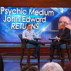 """See what happens when Dr. Phil (an admitted """"healthy skeptic"""" sits down with psychic medium John Edward!"""