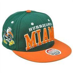 Miami Hurricanes Flat Bill Hat