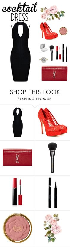 """""""dinner"""" by onfleeklover21 ❤ liked on Polyvore featuring beauty, Dolce&Gabbana, Yves Saint Laurent, Gucci, Giorgio Armani, Sisley and Milani"""