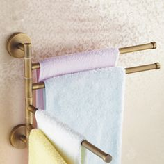 Wall Mount Antique Brass Finish Trible Movable Towel Bar TAB6113 http://www.tapforyou.co.uk/bathroom-accessory/towel-bar/wall-mount-antique-brass-finish-trible-movable-towel-bar-tab6113