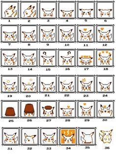 All 36 Pokemon Yellow Pikachu Cross Stitch Patterns! Cross Stitching, Cross Stitch Embroidery, Cross Stitch Patterns, Beading Patterns, Embroidery Patterns, Pokemon Cross Stitch, Cute Pokemon, Pokemon Games, Perler Beads