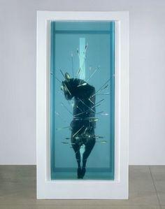 """""""Saint Sebastian, Exquisite Pain,"""" by Damien Hirst."""