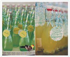 custom tagged bottled beverages