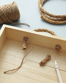 Rope-Handled Caddy - Martha Stewart Decorating [for the garden shed]
