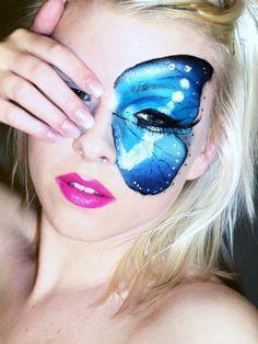 Butterfly makeup http://www.makeupbee.com/look_Butterfly-makeup_8104