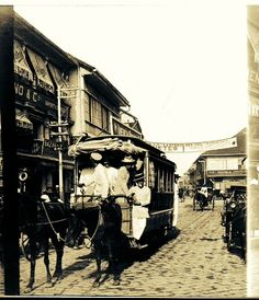 #Philippine_History ____  Tranvia At The Escolta,Manila c.1900s. During the Olden Days, Escolta was the shopping capital of the rich and the privileged Filipinos who were then known as the Ilustrados, the Principalias, or the Insulares.
