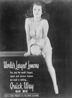 """World's Largest Lemons"" in Quick Way Bar Mix, c. 1950s"