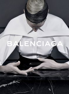 Steven Meisel shoots Balenciaga's campaign for a consecutive season under the creative direction of Alexander Wang. Kristen McMenamy is the campaign star for Fall/Winter styled by Jacob K Advertising Photography, Editorial Photography, Fashion Photography, Glamour Photography, Lifestyle Photography, Balenciaga, Fashion Advertising, Advertising Campaign, Logos Retro