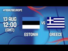 Ευρωπαϊκό Πρωτάθλημα Παίδων   Live  ΕΛΛΑΔΑ - Εσθονία (13.08.2016) FIBA U16