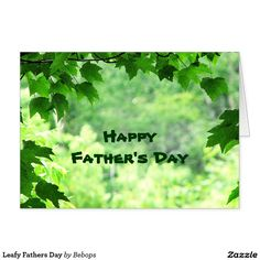 Leafy Fathers Day Card