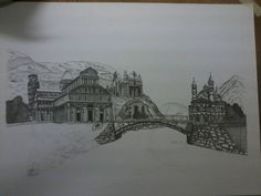 """"""" Italy, Germany, France Romanesque"""" work in progress (pen and ink)  #italy #germany #france #romanesque #europe #penandink #ink #drawing #plate #architecture #historyofarchitecture"""