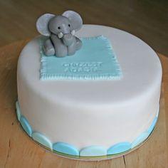 Tort z najsłodszym małym słonikiem. Taki tort na chrzest to prawdziwa ozdoba stołu