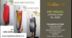 #Pret #Dresses begin from Rs. 4500 at The Babita M #Monsoon #Sale