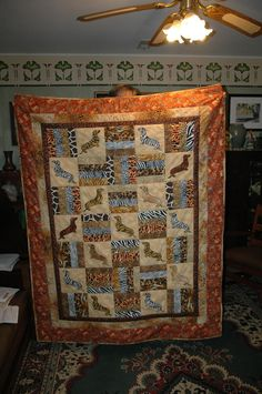 Wild About Doxies Animal Print Dachshund Lovers Lap Quilt by MessageQuiltsbyTaffy on Etsy