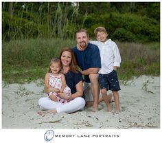 Family of four beach portrait Hilton Head Island
