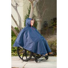 If you use a wheelchair you know it is hard to get a coat on and off and even more uncomfortable to sit on one. The solution? Our new Winter Wheelchair Poncho. Covers the legs, keeps you warm, easy on and off. In 4 colors. Buy today at Ease Living  #mobility #wheelchair