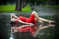 Love that it looks like she's laying on glass. Summer rain by Duc De Salier, via 500px