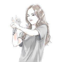 Digital art girl, kpop fanart, illustration girl, character illustration, b Kpop Anime, Anime Guys, Anime Male, Illustration Girl, Character Illustration, Tmblr Girl, Girly Drawings, Donia, Digital Art Girl