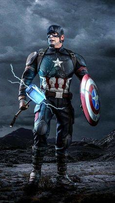 Captain America Worthy Mjolnir iPhone Wallpape r Iron Man Avengers, Marvel Avengers, Marvel Comics Superheroes, Marvel Films, Marvel Characters, Marvel Heroes, Marvel Cinematic, Black Panther Marvel, Marvel Captain America