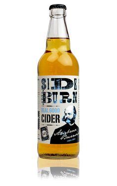 """Some no frills labeling. """"Real Good Cider"""" #drinks #design"""