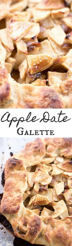 """Apple Date Galette has Fall flavors of apples, cinnamon, brown sugar and dates. Enjoy this """"free-form"""" pie without the fuss of a pie plate!Enjoy a slice with a scoop ofvanilla ice cream! (6-8 servings)"""
