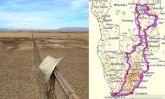 The Gilly hat on a trial trip into the Tankwa Karoo and their African route.