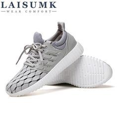 2017 LAISUMK Roman Brand Cotton Fabric Rubber Sole Breathable Solid Casual Shoes Men Summer Style Mesh Flats From Touchy Style Outfit Accessories ( Gray / 11 ) Men Shoes With Jeans, Mens Vans Shoes, Mens Shoes Boots, Male Shoes, Men's Shoes, Jordan Shoes For Men, Best Shoes For Men, Running Shoes For Men, Sports Shoes For Girls
