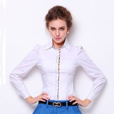 2017 New body Shirt Women Clothing ruff sleeve Blouse leopard Turn down collar Fashion hot Bussiness Wear bodysuit