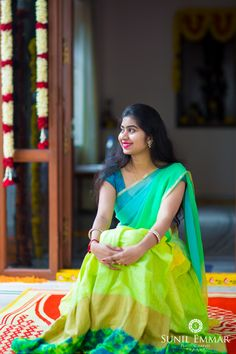 Elegant Mehndi Saree