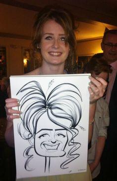 Chiswick wedding caricatures