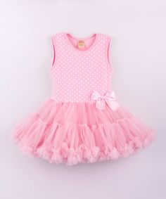 Look what I found on #zulily! Pink & White Polka Dot Tutu Dress - Toddler by Mia Belle Baby #zulilyfinds