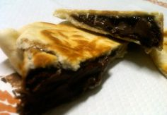 Crescione filled with Nutella - best eaten hot :D