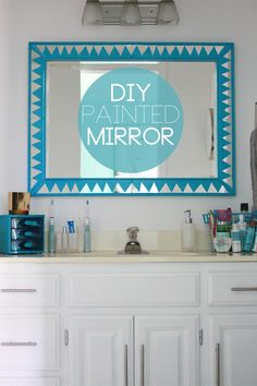 DIY Painted Mirror | The Band Wife